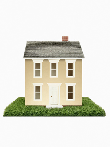 住宅展示場「Gold model house on green grass」:スマホ壁紙(12)