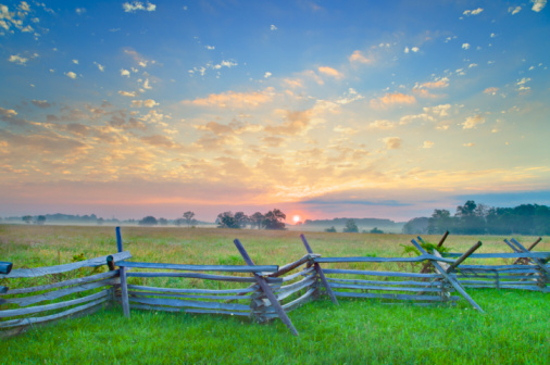 Pennsylvania「Old fence at Gettysburg National Military Park」:スマホ壁紙(18)