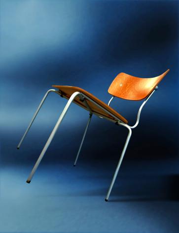 飽和色「傾斜の椅子」:スマホ壁紙(1)