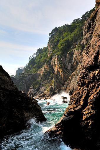 内陸部の岩柱「View of Kitayamazaki」:スマホ壁紙(3)