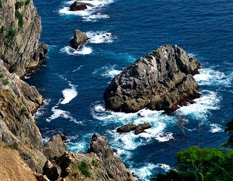 内陸部の岩柱「View of Kitayamazaki」:スマホ壁紙(1)