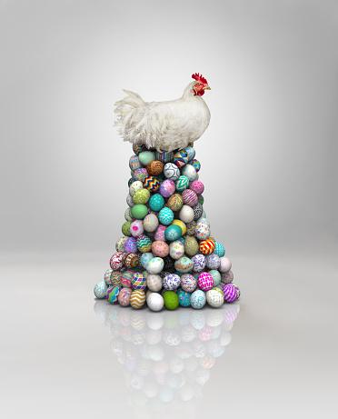 Easter Egg「Chicken on Easter eggs」:スマホ壁紙(4)