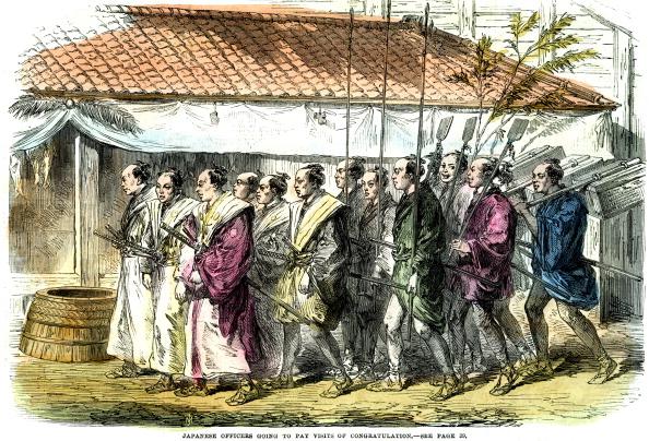 戦国武将「'Japanese officers going to pay visits of congratulation', Japan, 1865.」:写真・画像(19)[壁紙.com]