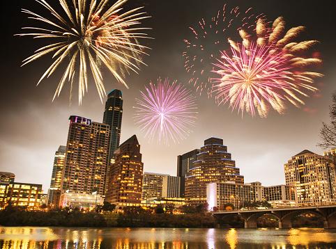 花火「花火は、国民の祝日で、テキサス州オースティン」:スマホ壁紙(3)