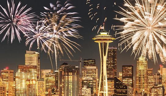 花火「花火は、国民の祝日でシアトル」:スマホ壁紙(9)