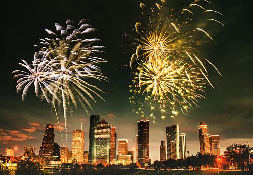 花火「花火は、ヒューストンの国民の祝日」:スマホ壁紙(2)