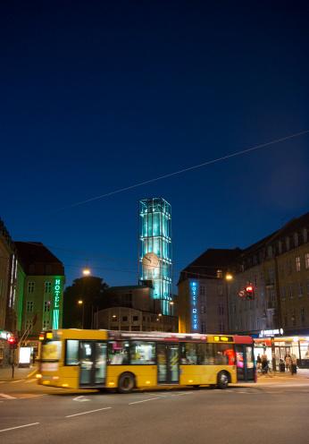 Arhus「Tower of City hall in Aarhus at night」:スマホ壁紙(19)
