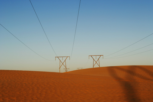 Electricity Pylon「Namibia, Power lines in desert」:スマホ壁紙(12)