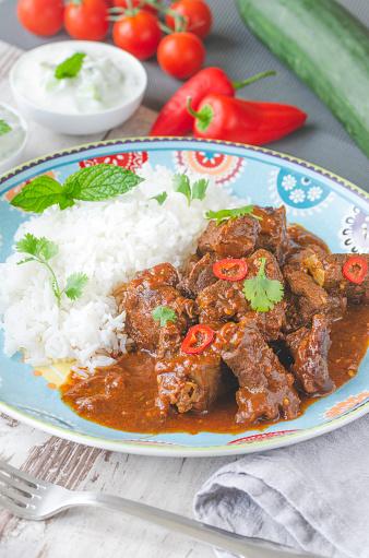 Basmati Rice「Homemade curry beef stew」:スマホ壁紙(4)
