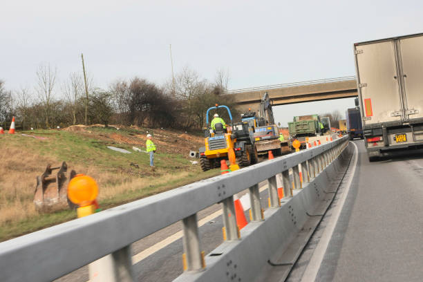 M1 widening project between junctions 25 and 28, Nottinghamshire, UK, February 2008:ニュース(壁紙.com)