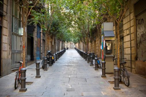 Barcelona - Spain「Barrio gotico Street」:スマホ壁紙(14)