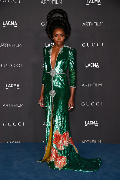 Two-Toned Dress「2019 LACMA Art + Film Gala Presented By Gucci - Arrivals」:写真・画像(18)[壁紙.com]