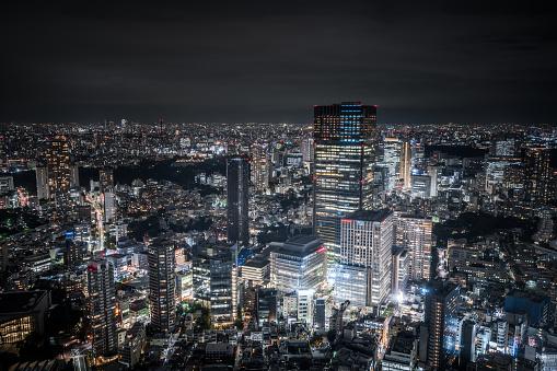 Japan「東京ミッドタウンの夜」:スマホ壁紙(6)