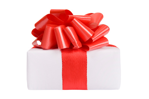 Gift「Little white present with a red bow」:スマホ壁紙(10)