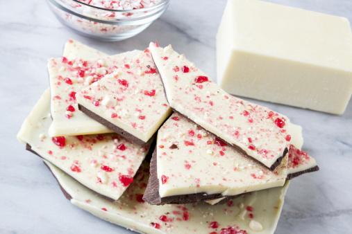 Mint Leaf - Culinary「Stack of peppermint bark Christmas candy」:スマホ壁紙(10)