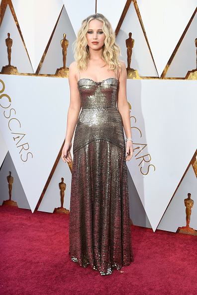 Gold Colored「90th Annual Academy Awards - Arrivals」:写真・画像(4)[壁紙.com]