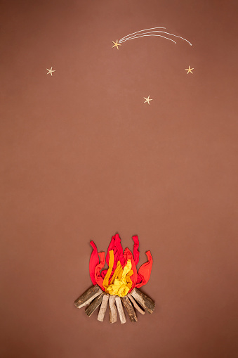 star sky「Campfire under starry sky」:スマホ壁紙(5)