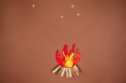 star sky「Campfire under starry sky」:スマホ壁紙(6)