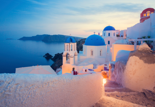 Aegean Sea「Santorini, Greece」:スマホ壁紙(3)
