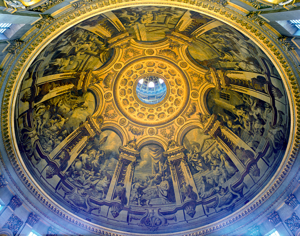 Ceiling「St Paul's Cathedral, London, UK. The £40m cleaning program celebrated the 300th anniversary of Sir Christopher Wren's masterpiece.」:写真・画像(7)[壁紙.com]