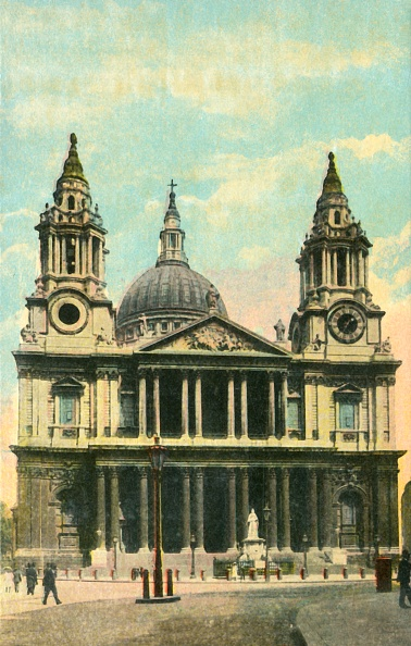 Hand Colored「St Pauls Cathedral」:写真・画像(12)[壁紙.com]