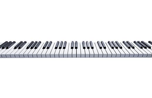 Digital Composite「piano keyboard on white background」:スマホ壁紙(18)