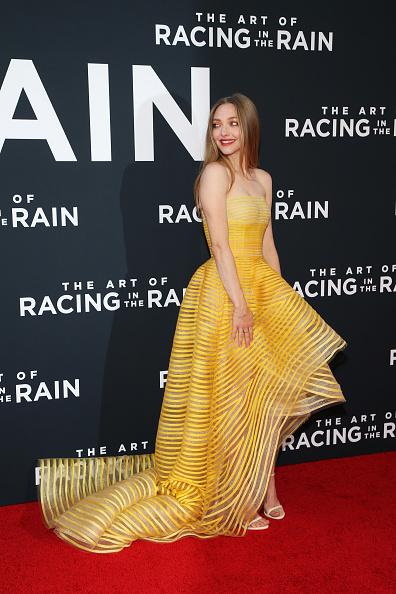"Amanda Seyfried「Premiere Of 20th Century Fox's ""The Art Of Racing In The Rain"" - Arrivals」:写真・画像(3)[壁紙.com]"