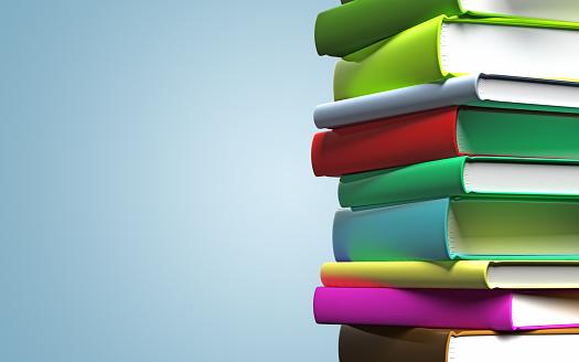 Hardcover Book「Colorful Books」:スマホ壁紙(18)