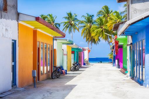 Maldives「Shopping Street of Maldives ( Maafushi )」:スマホ壁紙(9)