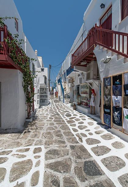 Shopping Street in Mykonos:スマホ壁紙(壁紙.com)
