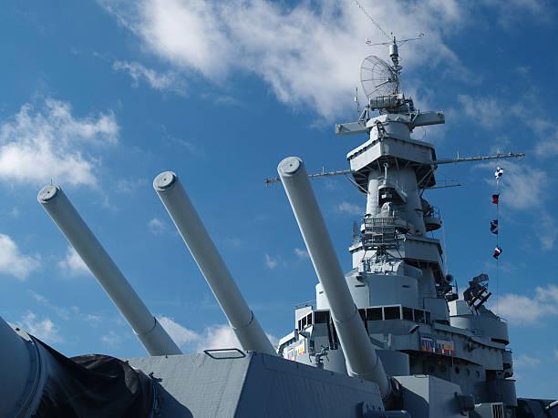USS Alabama detail:スマホ壁紙(壁紙.com)