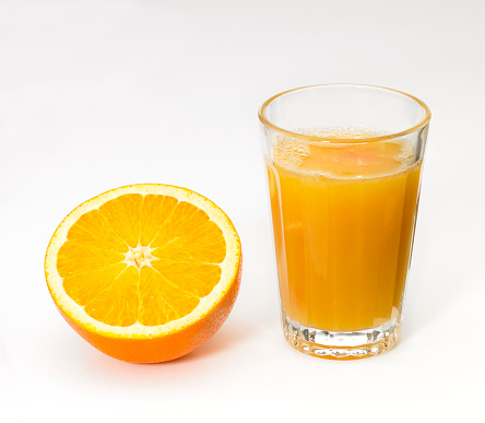 Juice - Drink「Fresh Orange Juice and Orange Half」:スマホ壁紙(6)