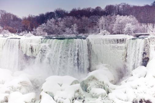 American Falls「American Falls section of Niagara Falls in winter.」:スマホ壁紙(1)