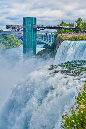 American Falls「American Falls and Observation tower,Niagara Falls」:スマホ壁紙(3)
