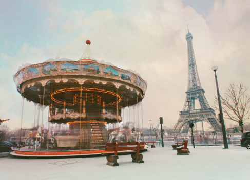 Carousel Horses「Swing caroussel and  Eiffel tower.」:スマホ壁紙(10)