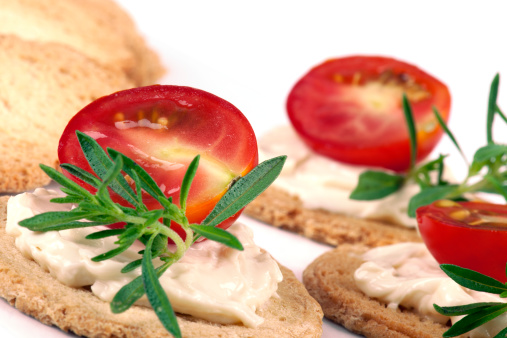 Toasted Food「Half a Tomato with Cream Cheese」:スマホ壁紙(0)