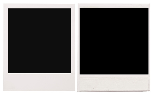 Instant Print Transfer「Two empty Polaroid frames on a white background」:スマホ壁紙(11)