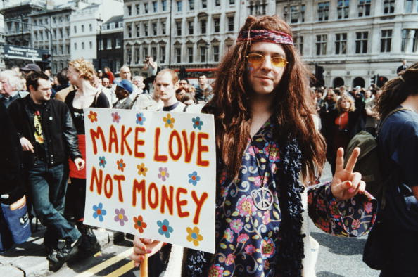 Placard「Hippy Protestor」:写真・画像(2)[壁紙.com]