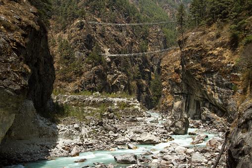 Khumbu「Suspension Bridge on Mount Everest Trek」:スマホ壁紙(2)