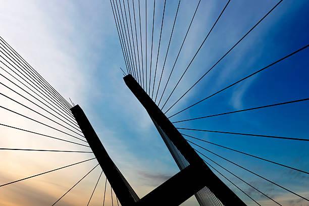 XXL suspension bridge silhouette:スマホ壁紙(壁紙.com)