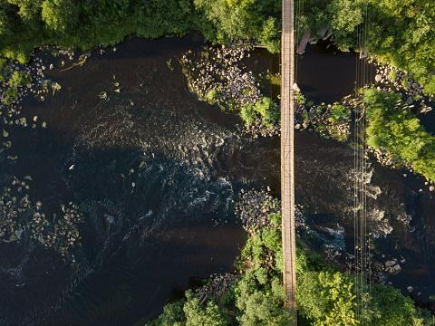 Suspension Bridge「Suspension bridge over Tikhvinka river, Tikhvin, Russia」:スマホ壁紙(16)