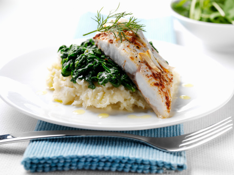 Mash - Food State「Sea bream with spinach and parsnip mash」:スマホ壁紙(9)