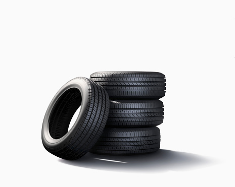 Mode of Transport「Pile of tires on white background」:スマホ壁紙(7)