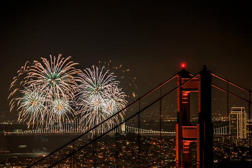 伝統的な祭り「花火、サンフランシスコ(カリフォルニア州)」:スマホ壁紙(14)