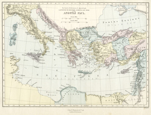 Journey「Map of Apostle Paul's missionary journeys in the mediterranean」:写真・画像(13)[壁紙.com]