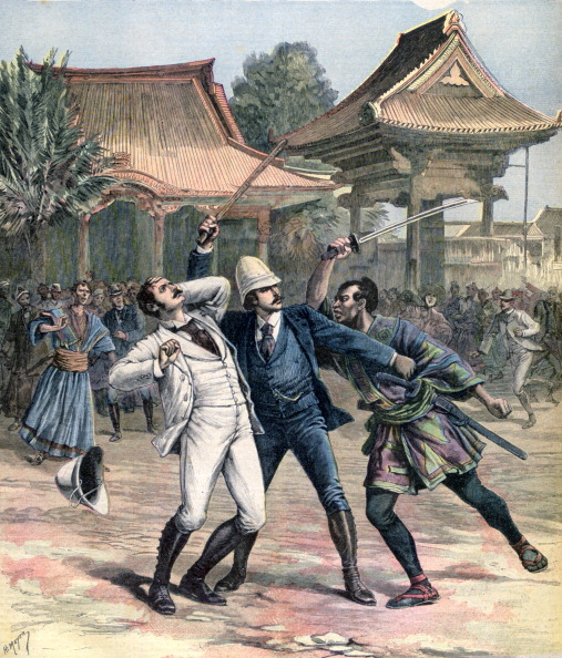 戦国武将「Failed assassination of Tsarevich Nicholas of Russia, Otsu, Japan, 1891. Artist: Henri Meyer」:写真・画像(4)[壁紙.com]