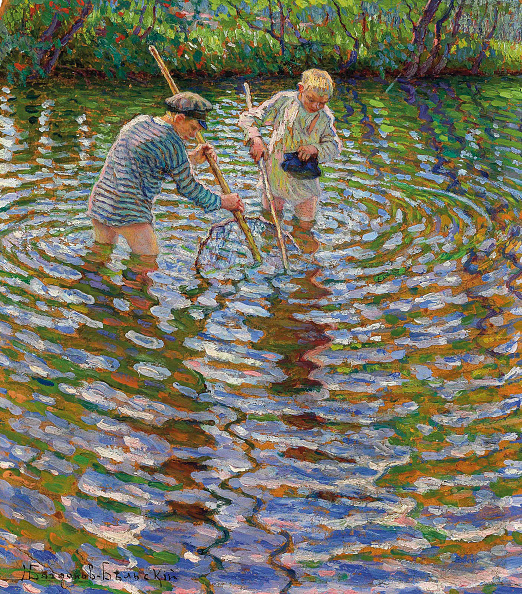 Painting - Activity「Young Boys Fishing For Crayfish.」:写真・画像(11)[壁紙.com]