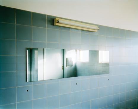 Tile「Mirror on wall in station lavatory」:スマホ壁紙(3)