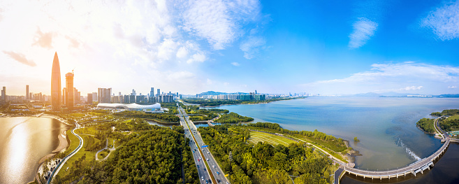 都市「Shenzhen city, guangdong province scenery」:スマホ壁紙(1)