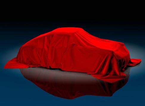 Unrecognizable Person「Porsche 911 Beneath Red Cloth」:スマホ壁紙(5)